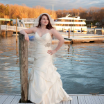 Caitlin Poses With The Lady Of The Lake | Lady of the Lake | Lake Norman