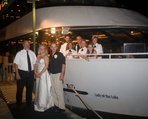 Enjoying the yacht wedding | Lady of the Lake | Lake Norman