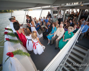 Ceremony on the water | Lady of the Lake | Lake Norman